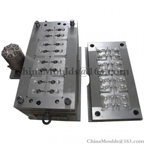 16-cavities flip top cap mould
